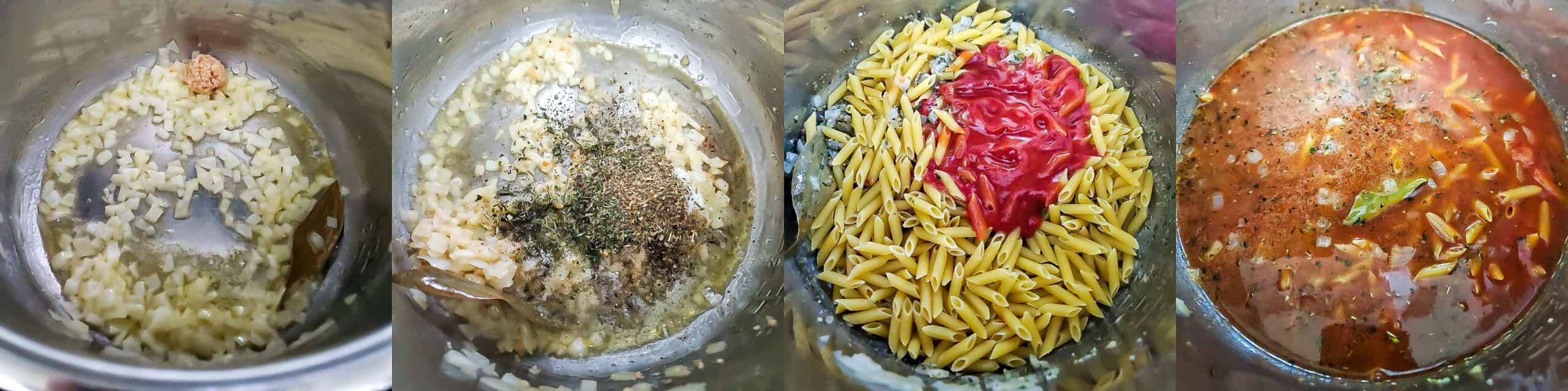 Creamy Tomato Sauce Pasta Step1