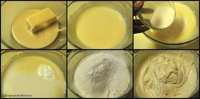 step by step pics for making eggless vanilla cupcake