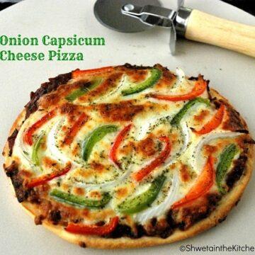 Onion Capsicum Cheese Pizza
