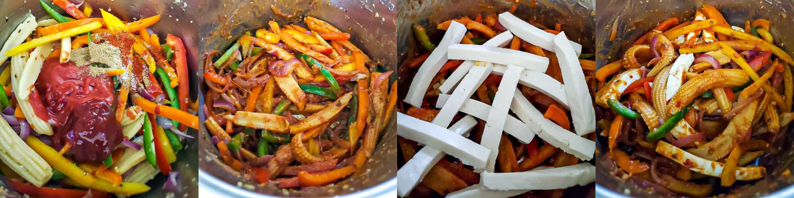 Paneer Vegetable Jalfrezi - Step2