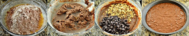 Step by Step - chocolate Banana Cake