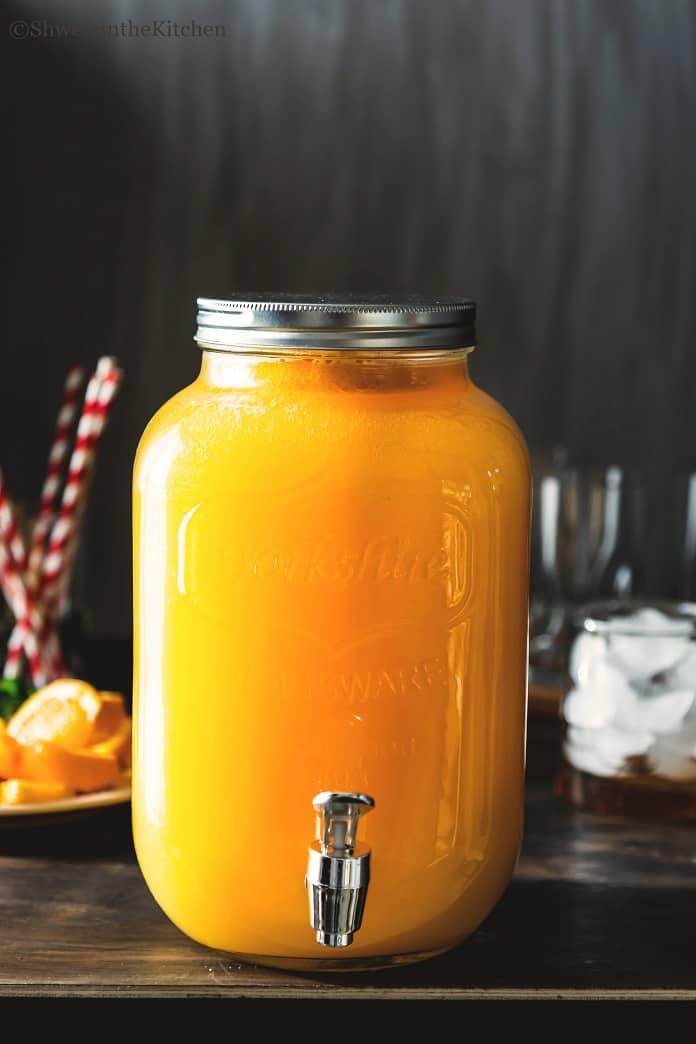 Pitcher filled with Orange Spritzer