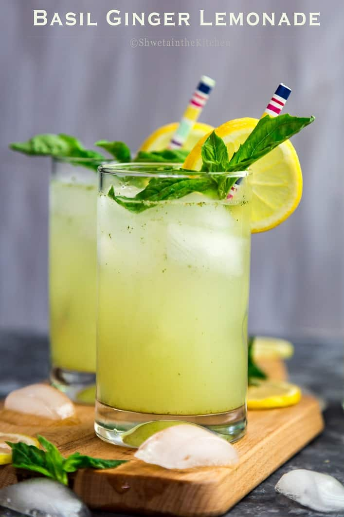 Basil Ginger Lemonade With Dorot Shweta In The Kitchen