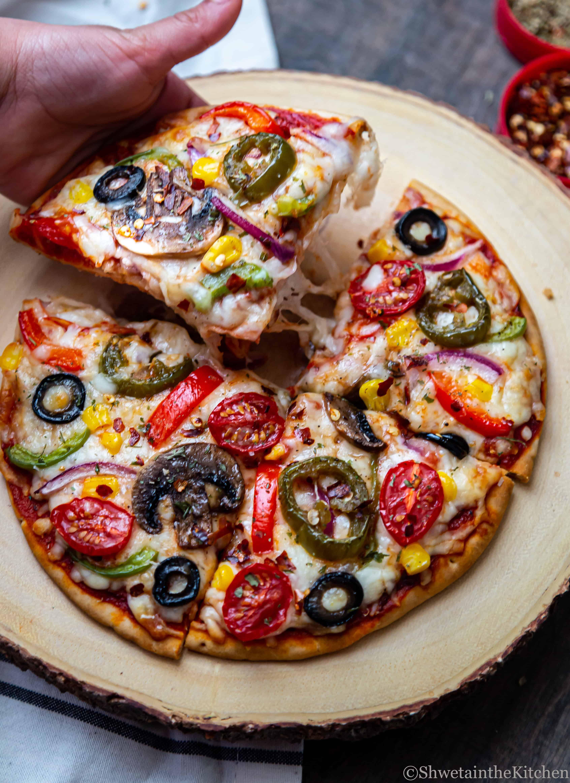Veggie Pita Bread Pizza