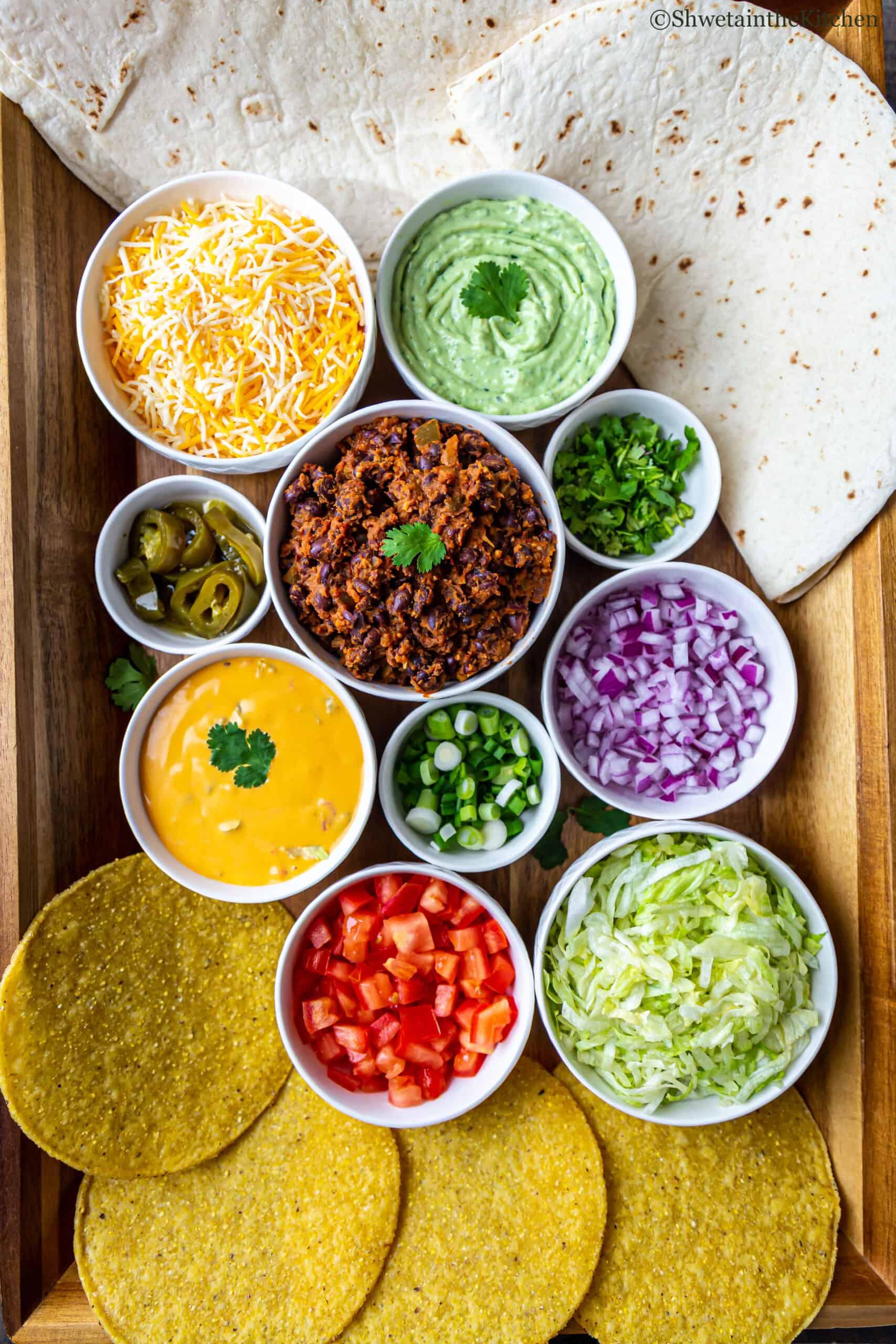 Vegetarian Crunchwrap Supreme - Ingredients