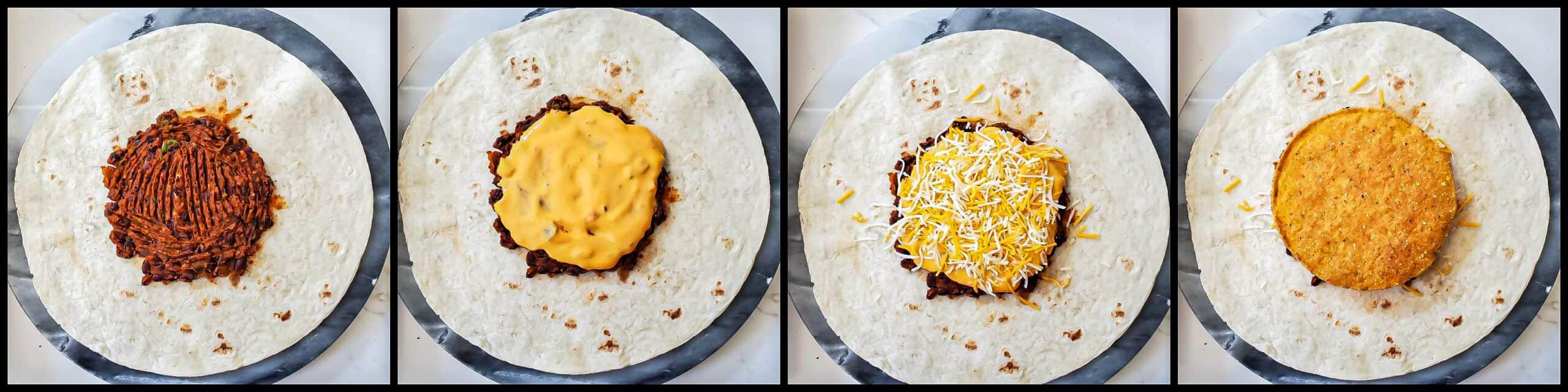 Vegetarian Crunch Wrap - step3