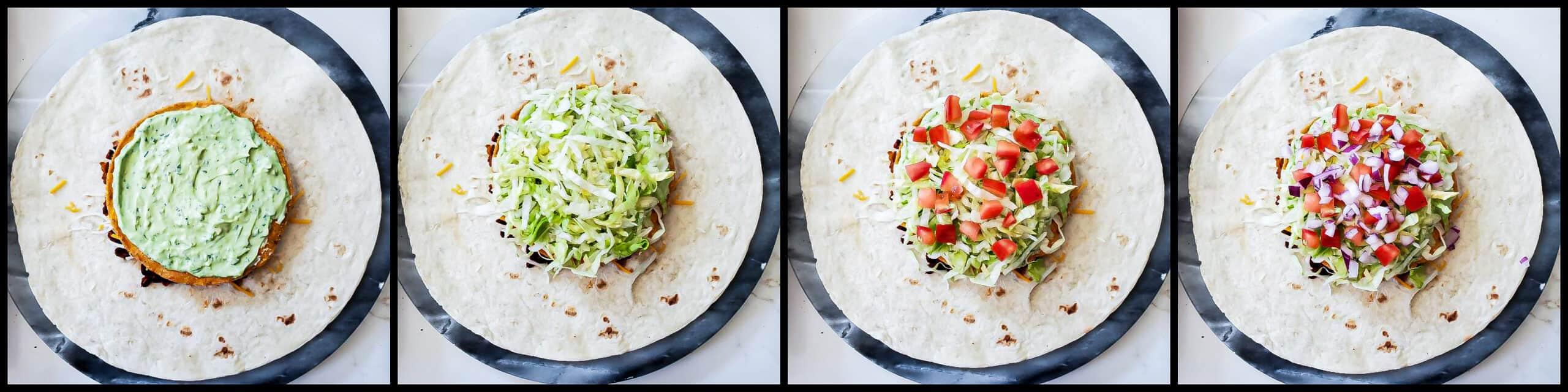 Vegetarian Crunch Wrap - step4