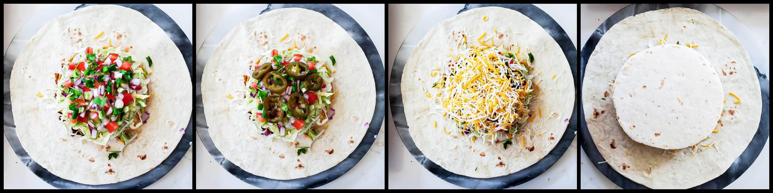 Vegetarian Crunch Wrap - step5