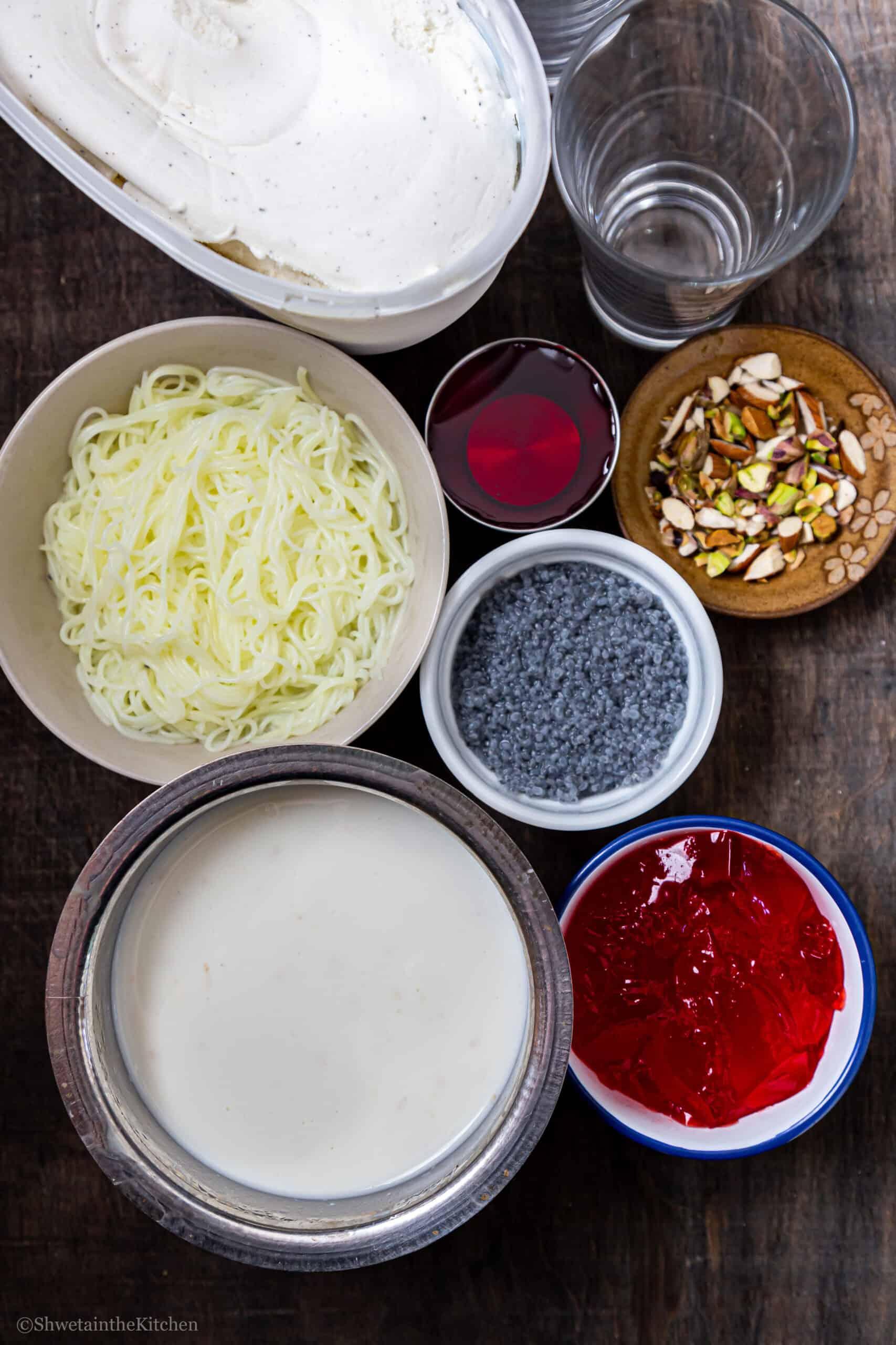 Falooda Ingredients