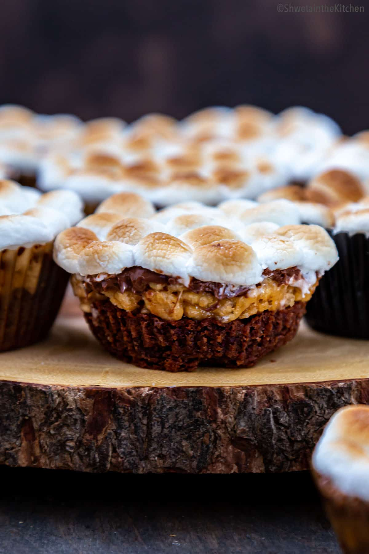 Brownie Scotcheroos Marshmallow cups 4