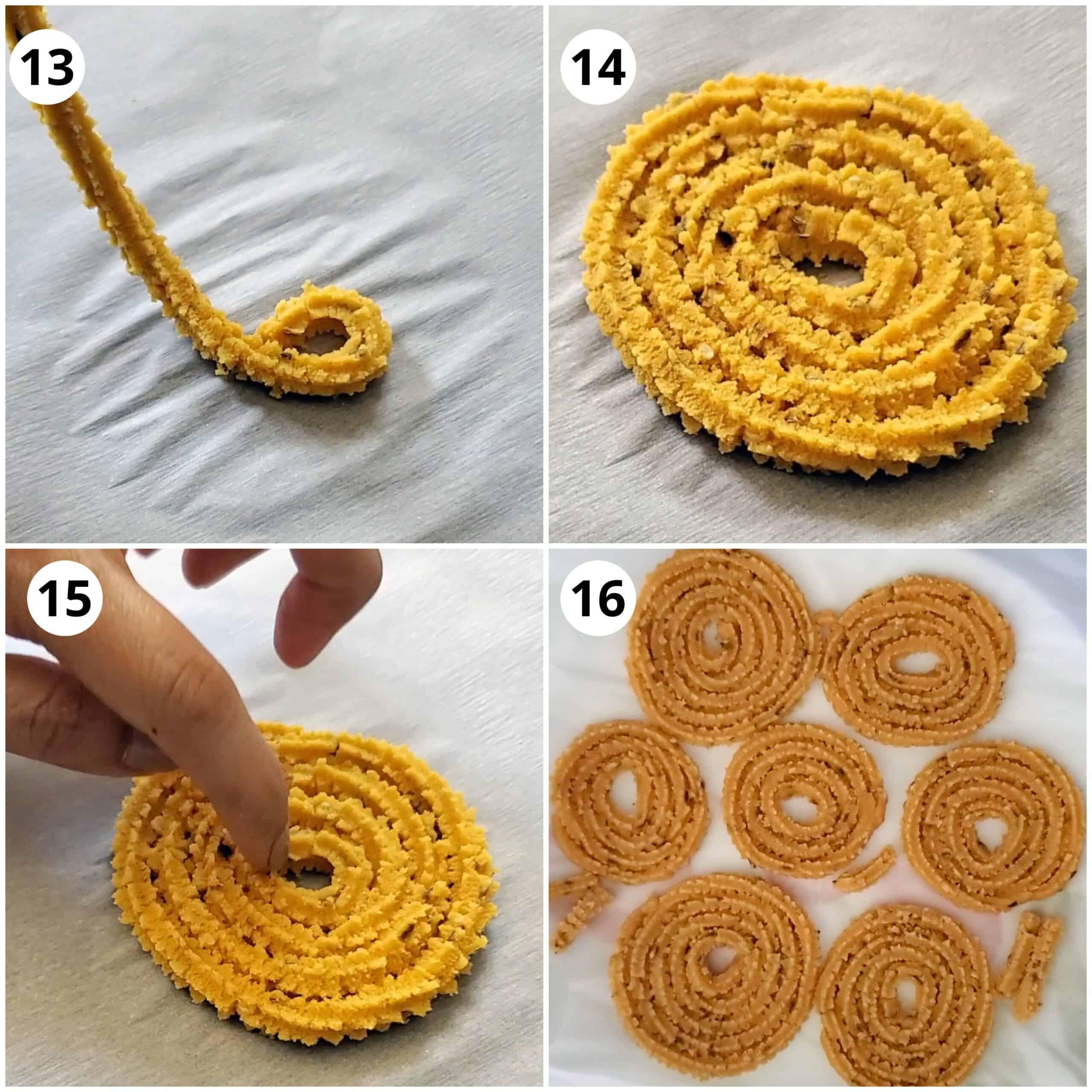 steps for making chakli spirals