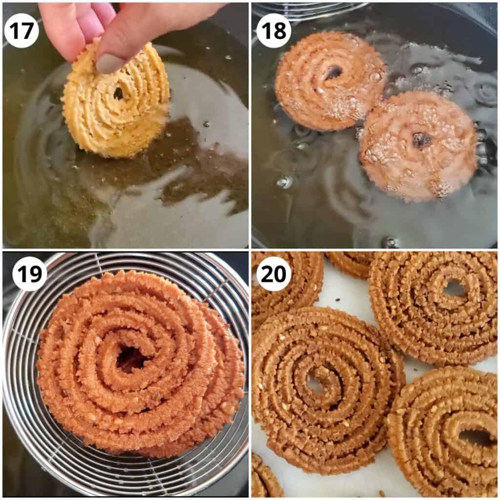 steps for frying the chakali in oil