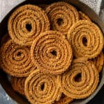 Chakli arranged on a circular plate