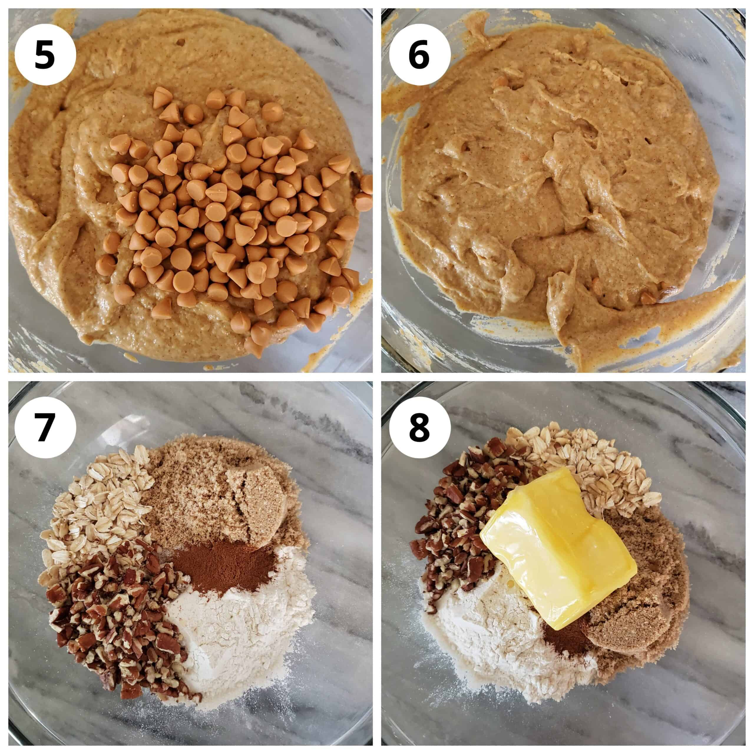 Steps for making streusel
