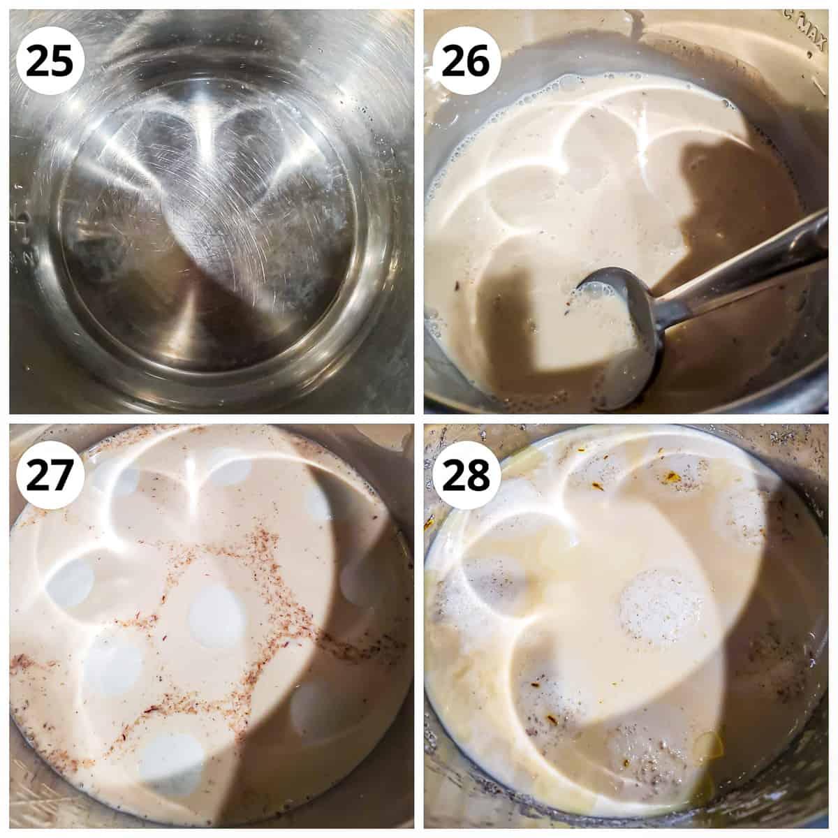 steps for cooking paneer balls in Instantpot for rasmalai
