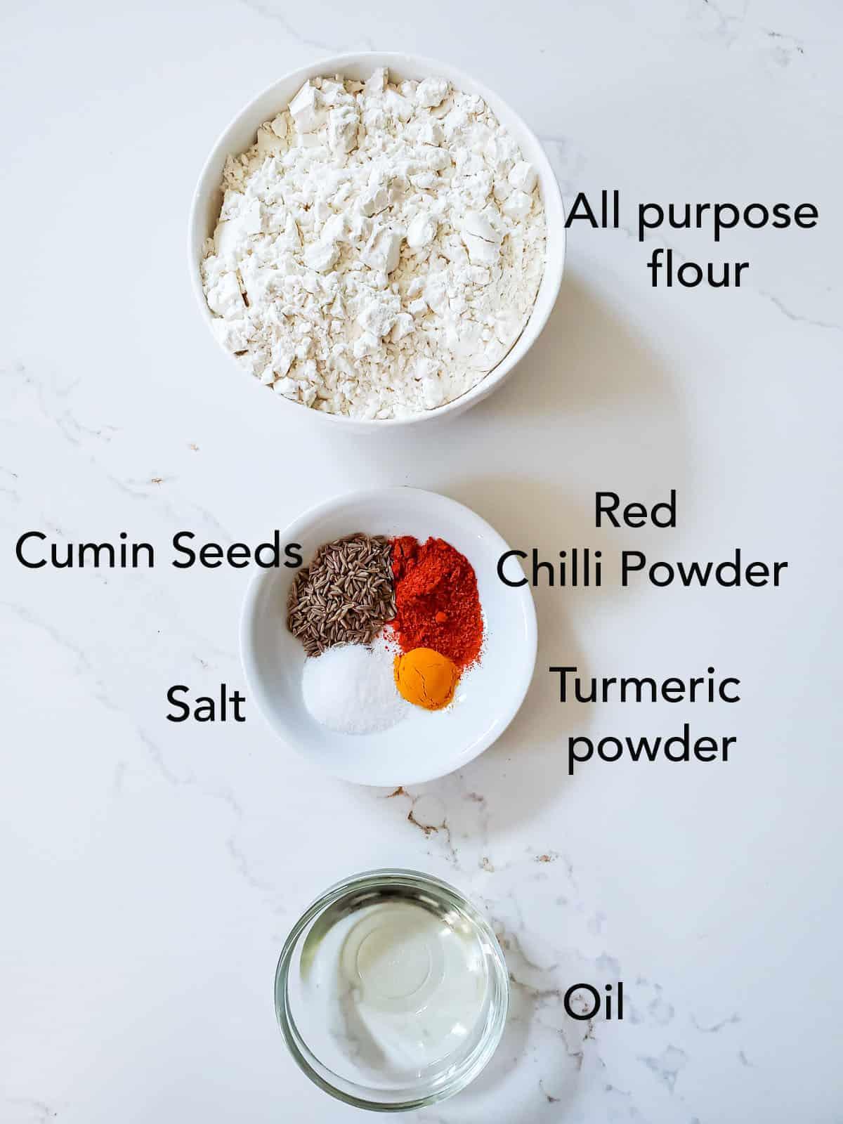 ingredients for spicy shankarpali