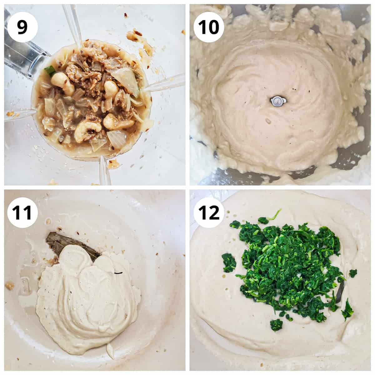 Steps for making onion cashew paste and cooking with boiled methi