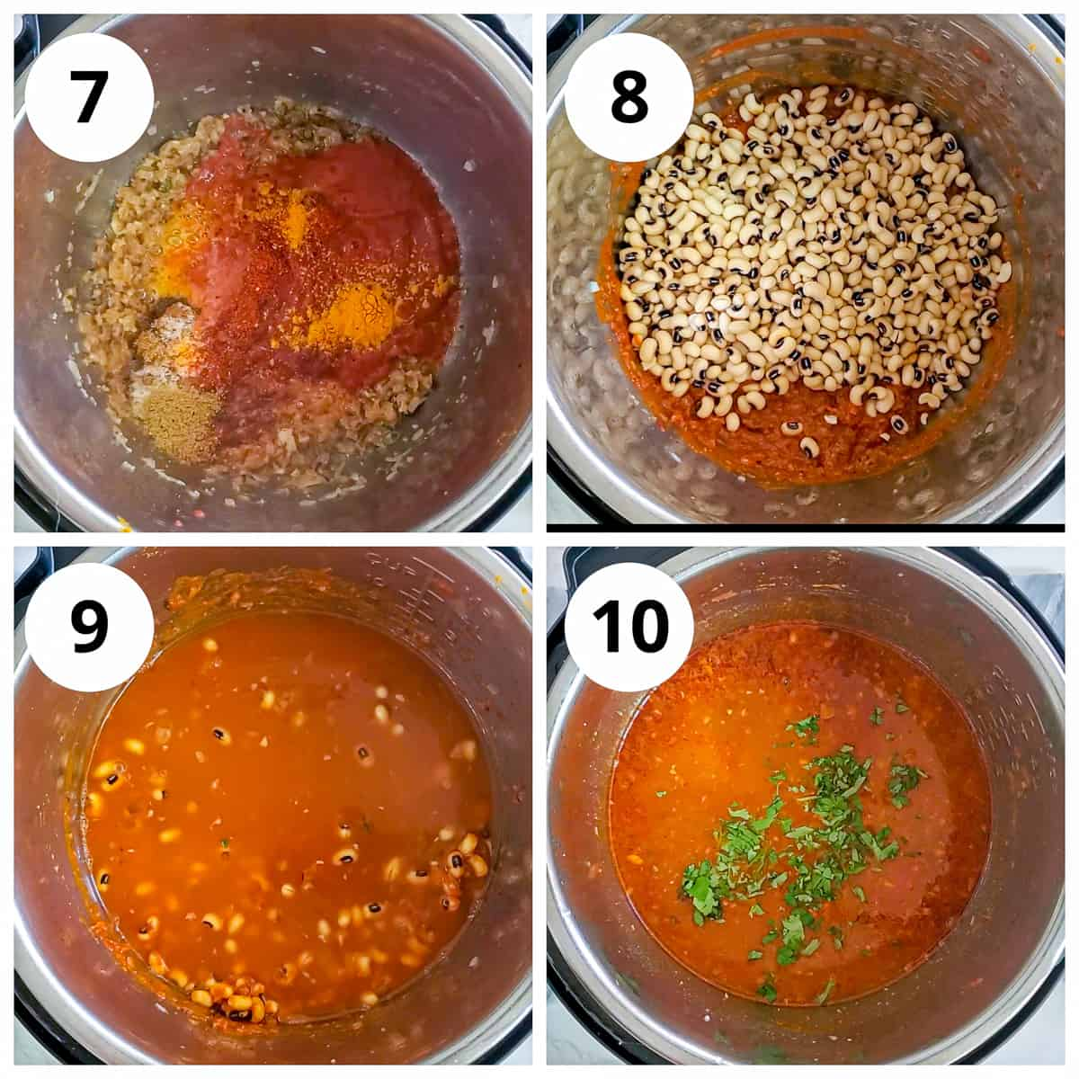 Steps for cooking lobia (black eyed peas curry) in Instant pot
