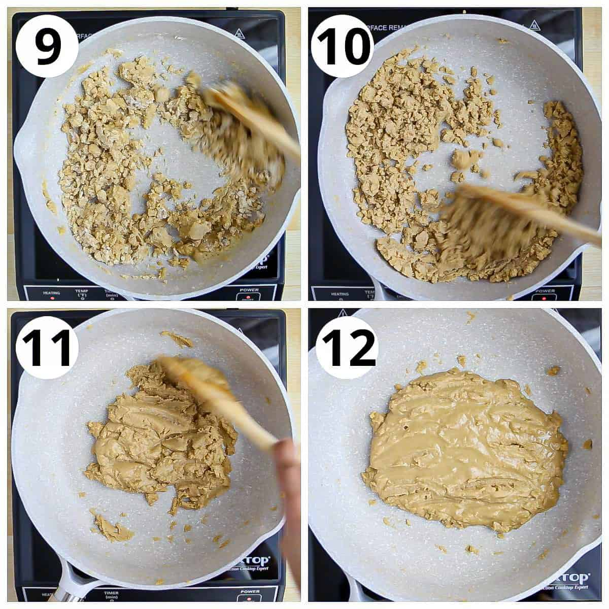 Steps for roasting wholewheat flour for making Panjiri