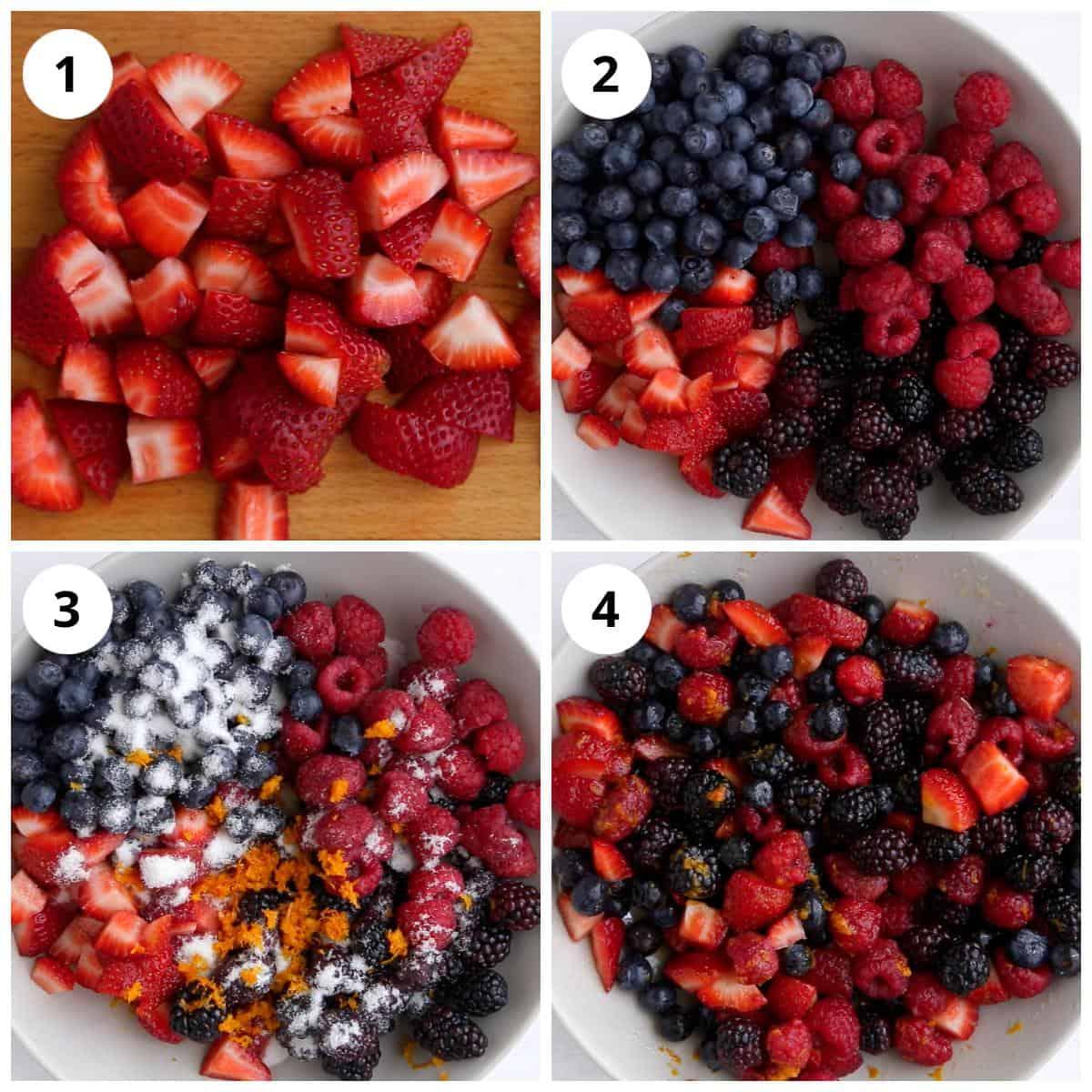 Steps for Macerating Berries