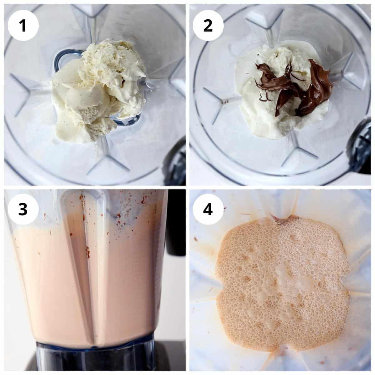 steps for making nutella milkshake recipe