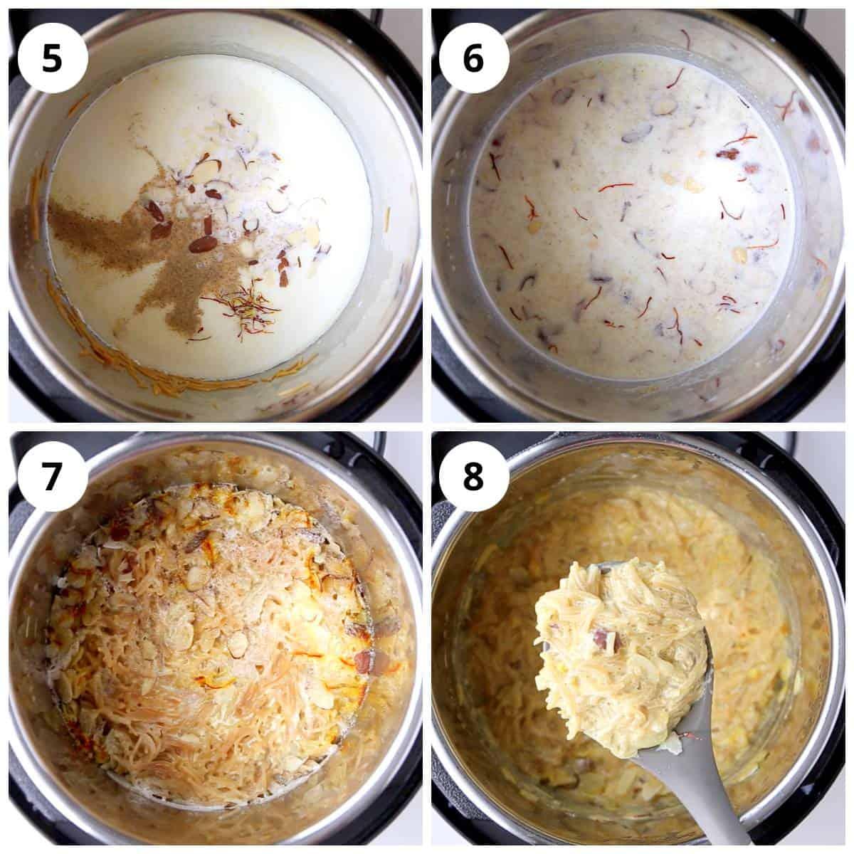 Steps for making seviyan kheer in Instant Pot